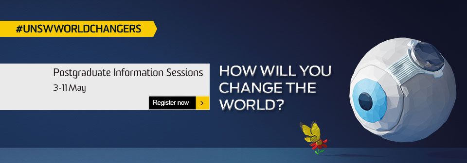 UNSW Postgraduate Information Session 3-11 May